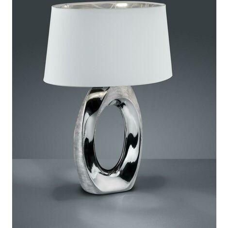 Lampada Da Comodino Argento.Taba Lampada Da Tavolo Grande Attacco E27 60w Colore Argento R50521089