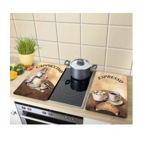 Tabla Cocina 30X52Cm Proteccion Vitroceramica Vidrio Café Wenko