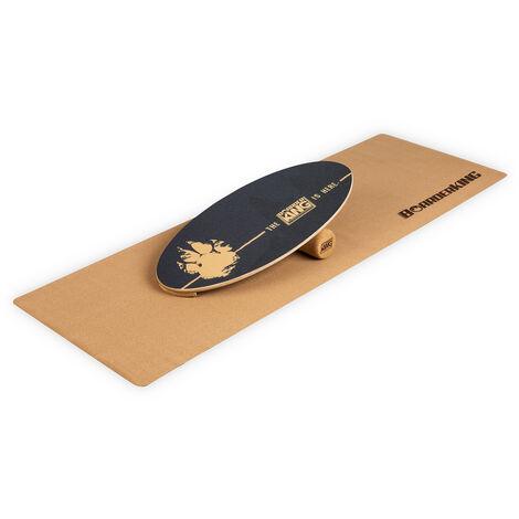 Tabla de equilibrio Indoorboard Allrounder + esterilla + rodillo de madera / corcho