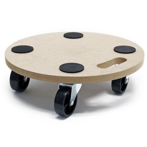 "main image of ""Tabla de ruedas para transporte MDF 380mm 250kg Plataforma rodante mudanza Tablero móvil muebles"""
