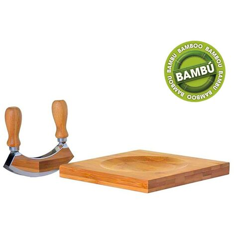 Tabla para cortar queso en madera de bambú con cortador (19.5x19.5x2)