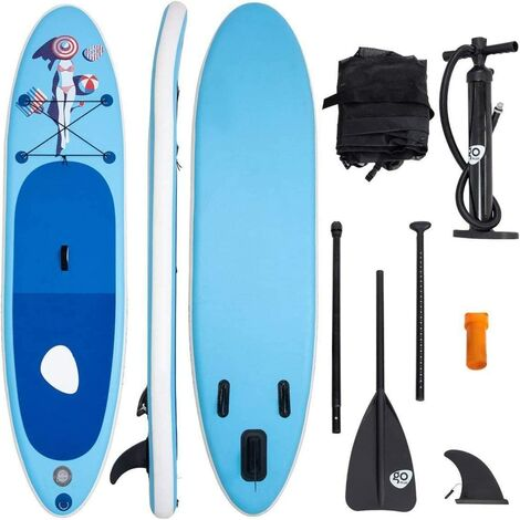 Tablas de Surf Inflable Paddle Board Hinchables Remo Tablero Sup Board Stand Up Board Set 305 x 76 x 15cm Azul