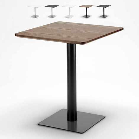 Table 60x60 carrée avec pied central pour bar bistrots HORECA