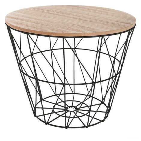 Table à café en métal Kumi noir - Multicolore