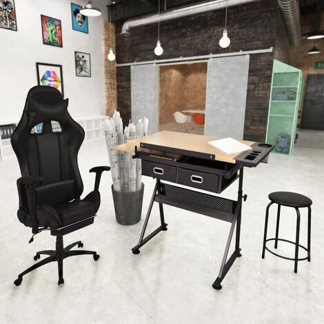 Table à dessin à dessus inclinable avec chaise de jeux
