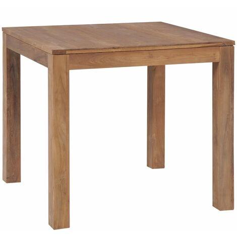 Table à dîner Bois de teck et finition naturelle 82x80x76 cm