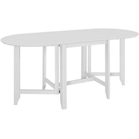 Table à dîner extensible Blanc (75-180) x 75 x 74 cm MDF