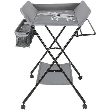 """main image of """"Table a langer pliable avec panier de rangeme Gris"""""""