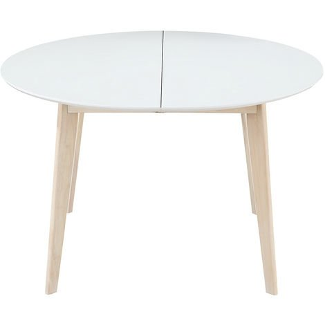 et manger blanc Table design à bois L120 extensible ronde LjA54R