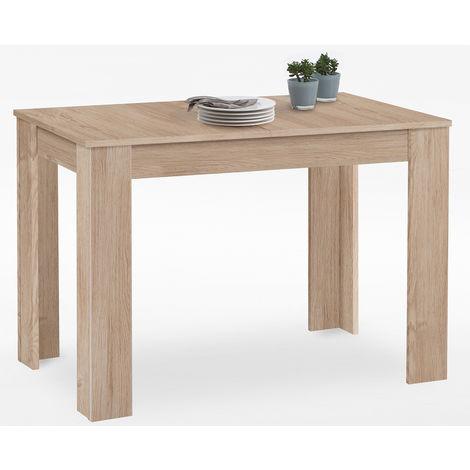Table à manger extensible coloris chêne - L112-164 x H74,4 x P67 cm -PEGANE-