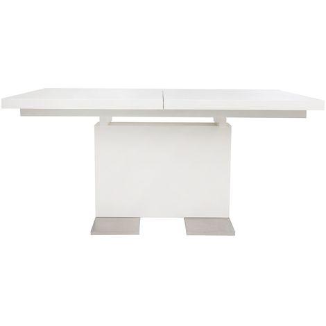 Table à manger extensible design laquée blanche L160-220 ...