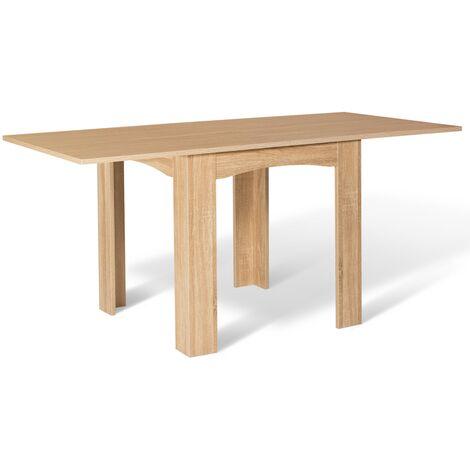 Table à manger extensible DONA 6-8 personnes hêtre 80-160cm