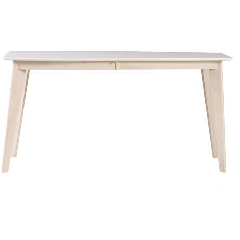Table à manger extensible scandinave en bois L150-200 LEENA