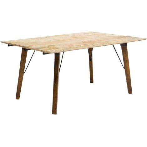 Table à manger industrielle en manguier - Bois