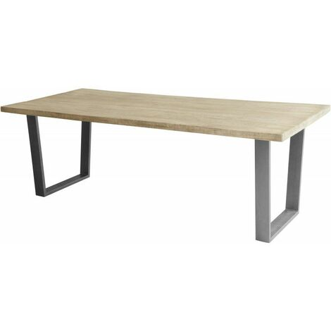 Table à manger industrielle en manguier massif Bernard