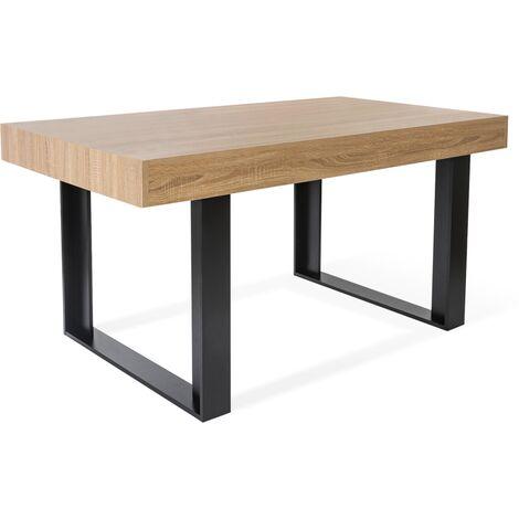 Table à manger PHOENIX 160 CM bois et noir