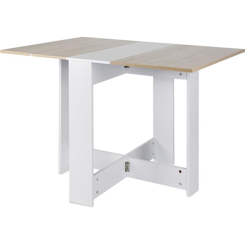 Table A Manger Pliante De 4 A 6 Personnes De Style Contemporain Blanc Mat