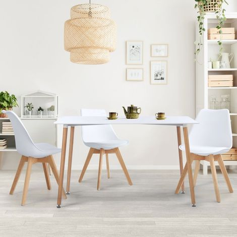 Table à manger scandinave SARA 120 CM blanche