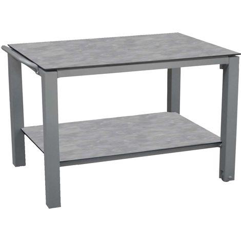 Table à plancha en aluminium 2 plateaux Taupe - Taupe
