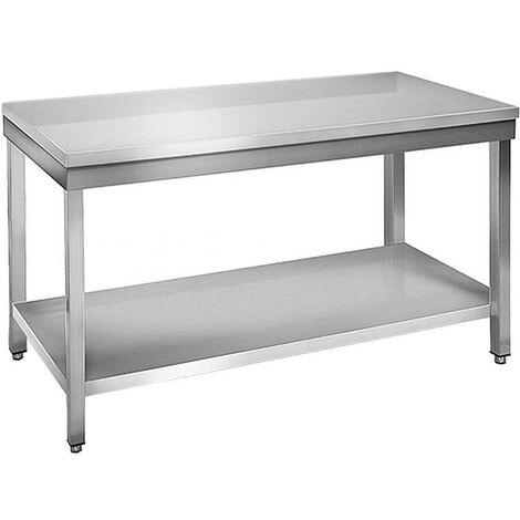 Table à plancha tout inox 2 plateaux 200 cm