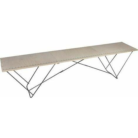 Table a tapisser bois/acier 295x58x70 cm