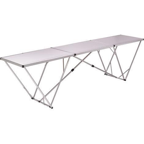 Table à tapisser pliante alu 3 m x 0.60 - l'outil parfait