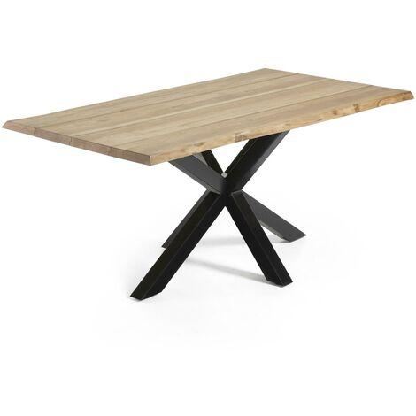 Table Argo 180 cm chêne naturel pieds noir