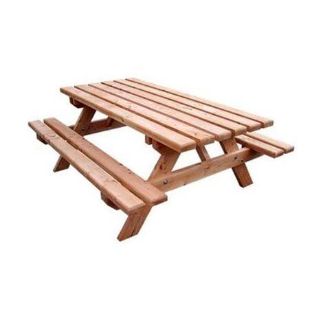 Table avec banc en douglas