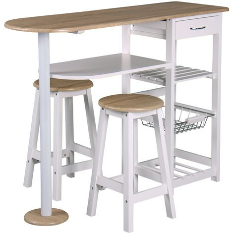 table bar et 2 tabourets de cuisine desserte de cuisne. Black Bedroom Furniture Sets. Home Design Ideas
