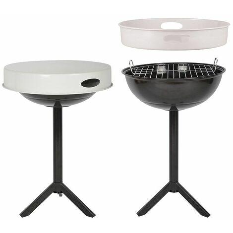 Table barbecue avec plateau amovible Plateau blanc - Plateau blanc