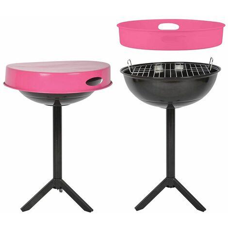 Table barbecue avec plateau amovible Plateau rose - Plateau rose