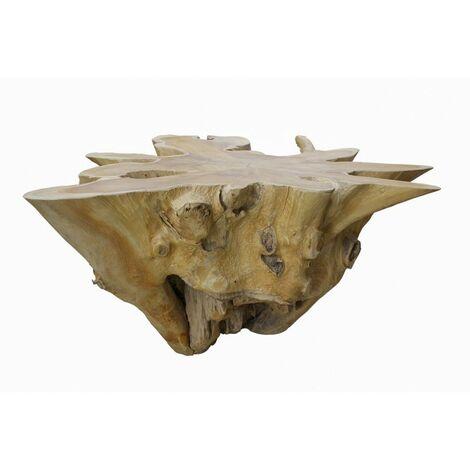 Table basse 100 cm en racine de teck - TEAK 04 - Bois