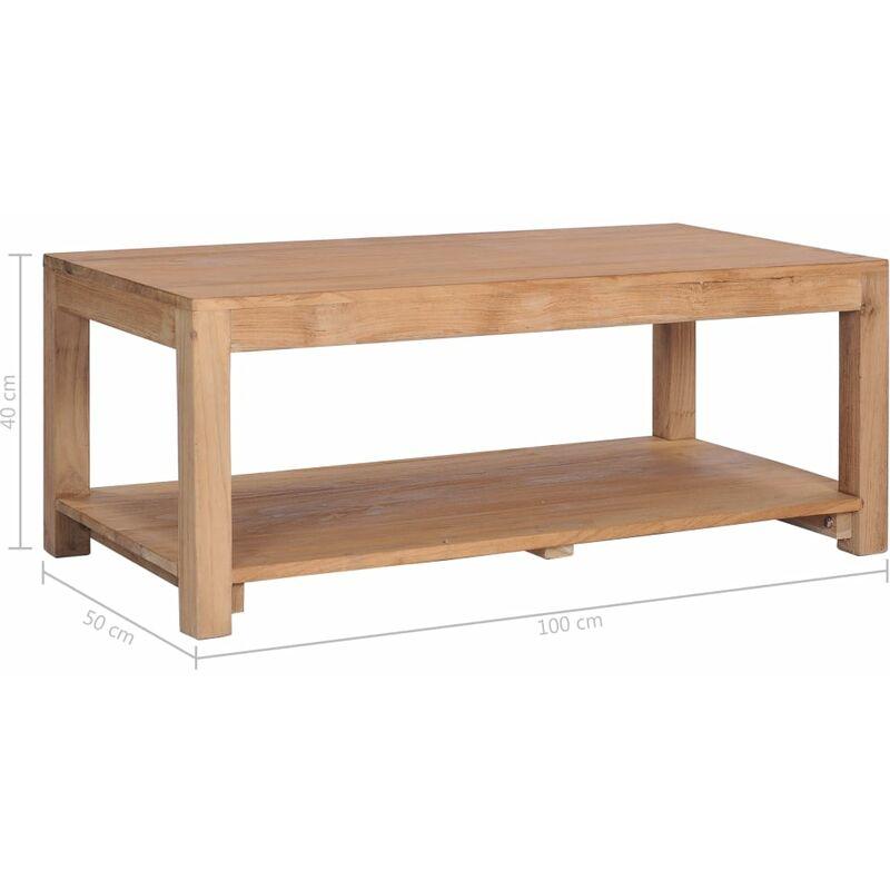 De Massif X Table Basse 100 40 Cm 50 Bois Teck nvN8ywOPm0
