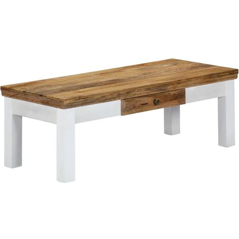 Table basse 110x50x40 cm Bois de manguier massif