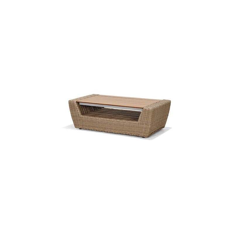M&s - Table basse 113x58x38 cm en résine beige - BALEA