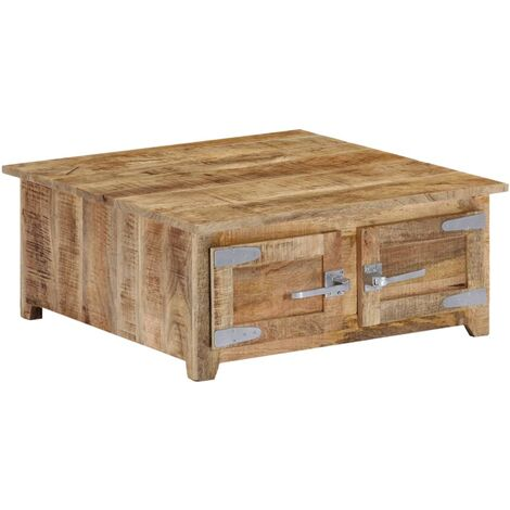 Table basse 70x70x30 cm Bois de manguier solide