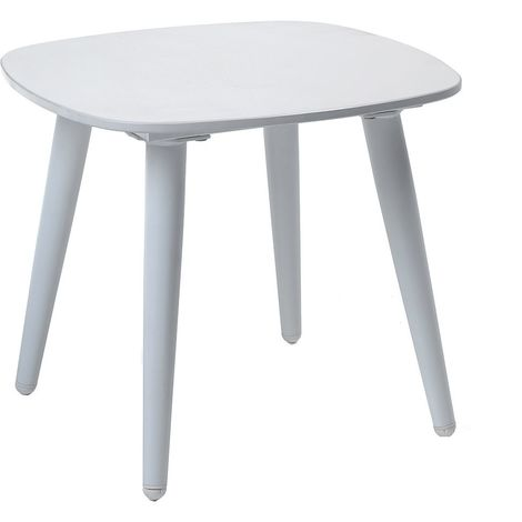 Table basse alu et Duranite® blanc Kimito