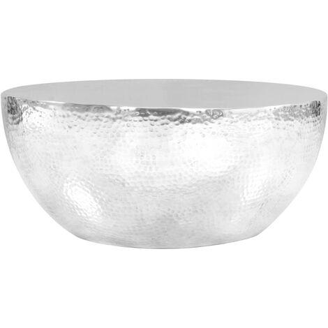 """main image of """"vidaXL Table Basse Aluminium Martelé Table d'Appoint Table de Canapé Meuble de Salon Meuble de Salle de Séjour Maison Intérieur Multicolore"""""""