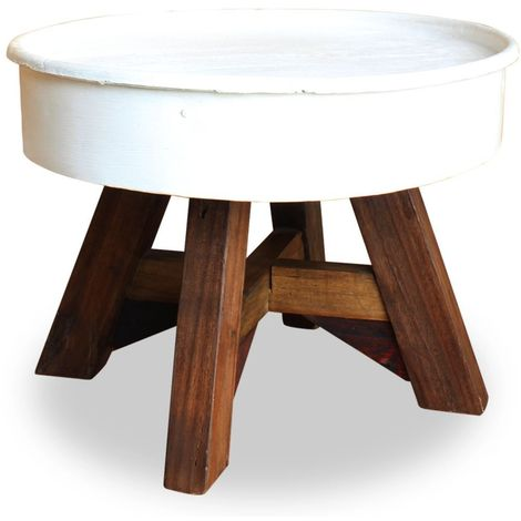 Table X Cm Bois Massif 45 Récupération 60 Basse Blanc De oxBdCer