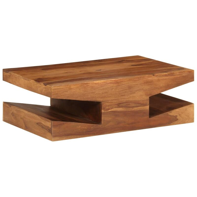 Table Basse En Bois Brut.Table Basse Bois Massif De Sesham 90 X 60 X 30 Cm