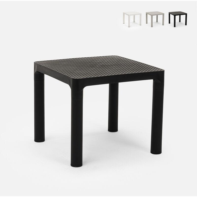 Table basse carré 45x45 cm café bar jardin intérieur extérieur Aviat | Noir