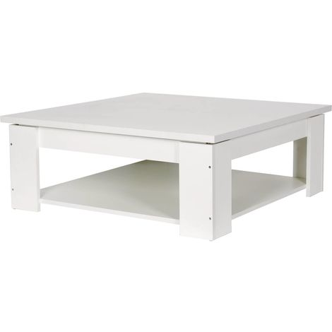 "Table basse carrée ""Lauren"" - Blanc"