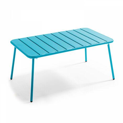 """main image of """"Table basse de jardin en acier thermolaqué, Palavas"""""""
