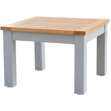 "main image of ""Table Basse de Jardin Bérgamo Aluminium Bois 46,1x6,1x32,5 cm"""