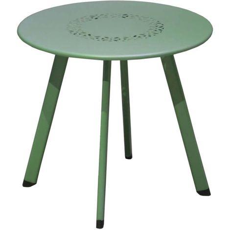 Table basse de jardin en métal Massai 40 cm - Amande