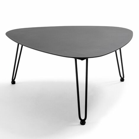 """main image of """"Table basse de jardin triangulaire 76x74x37cm Atoll - Noir - Noir"""""""