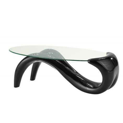 """main image of """"Table basse de salon noire - Wave - Designetsamaison - Noir"""""""