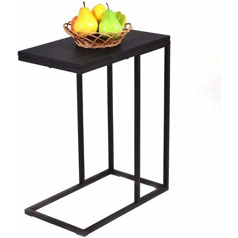 Table Basse de Salon Table d\'Appoint Creux Noir pour Salle à Manger -