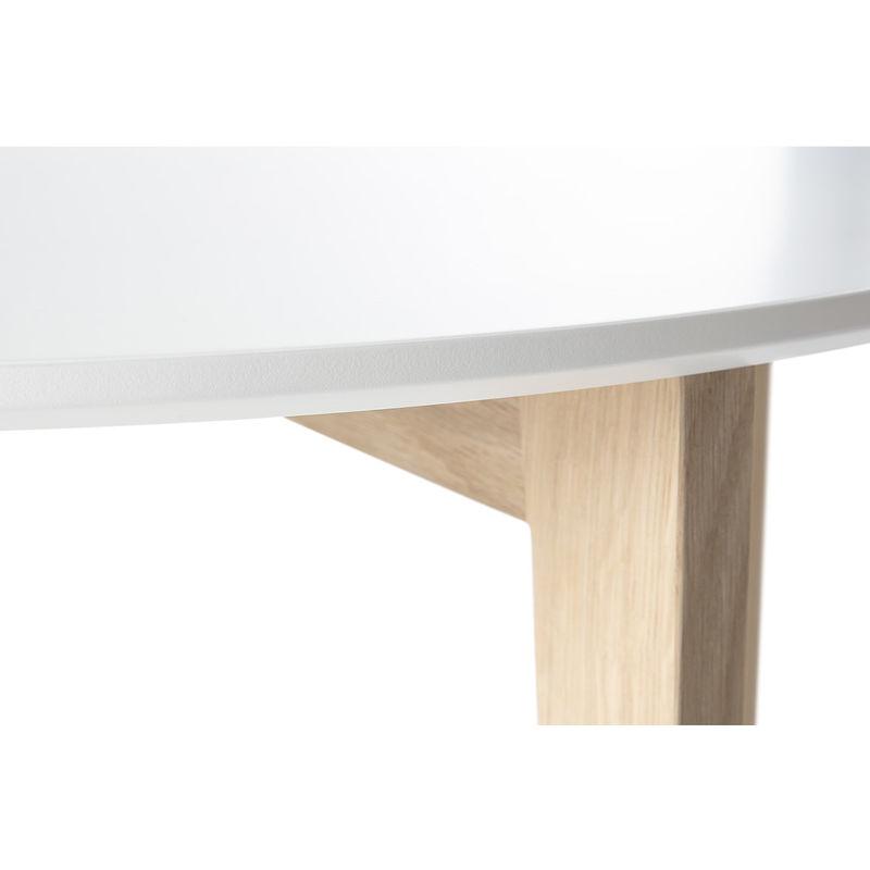 Table Laquée Et Mat Blanc Bois Design Largo Basse Naturel nP0OXw8k