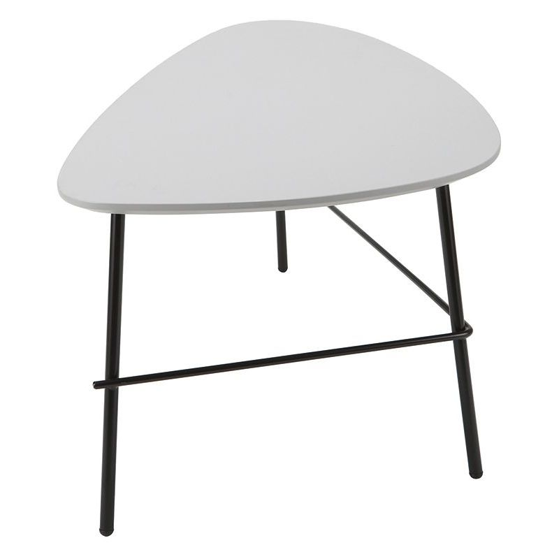 Table Basse Design Metal Gris L93 Cm Bloom